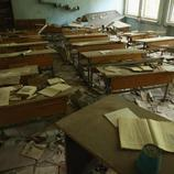Libros abandonados en las aulas de la Escuela Número 3
