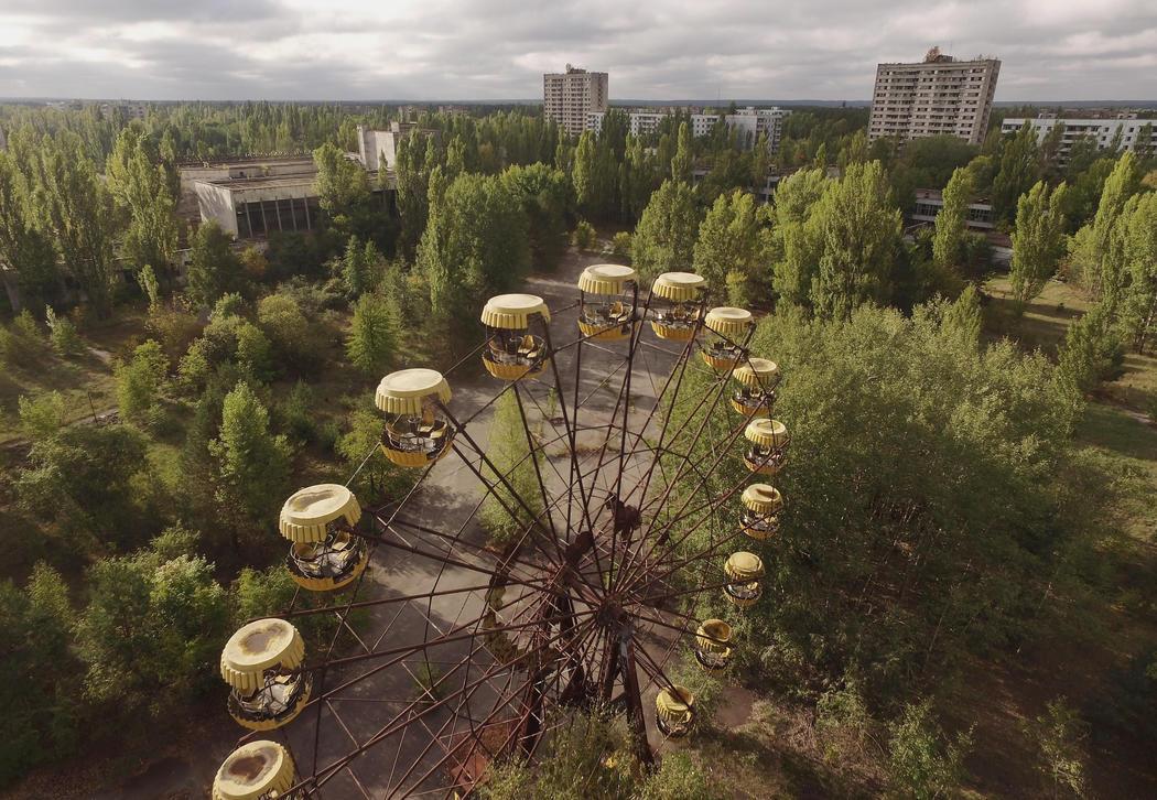 La noria del parque de Pripyat, 30 años después