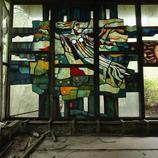 Detalle de una cafetería abandonada en Prypiat