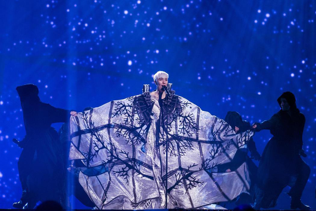Nina Kraljic, de Croacia, en la final de Eurovisión 2016