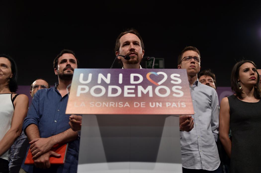 Impotencia en la sede de Unidos Podemos