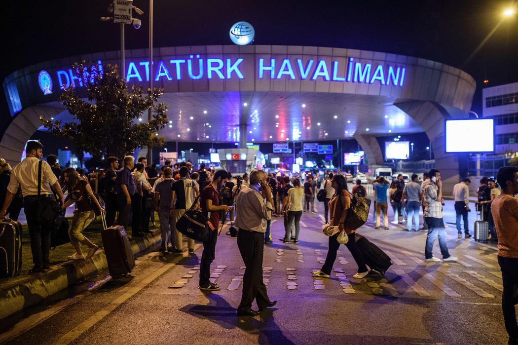 Caos entre los pasajeros tras el atentado