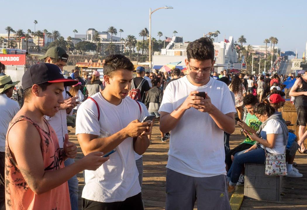 Pokémon Go en Santa Monica en Los Ángeles