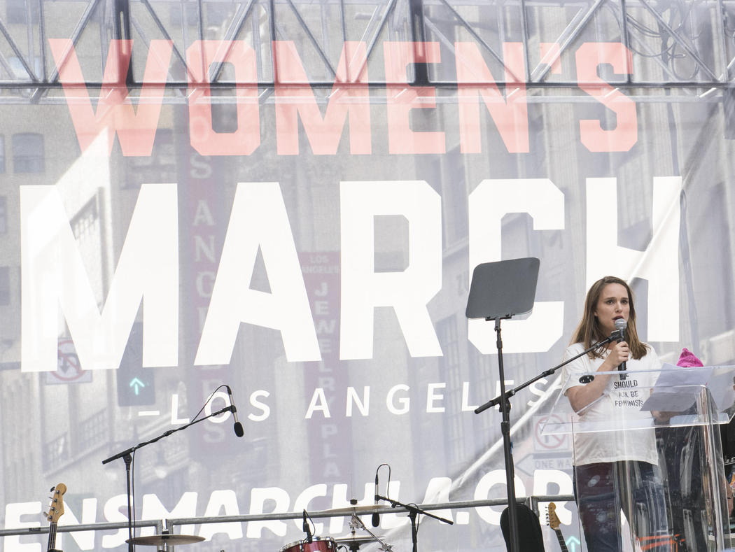 Natalie Portman en la Women's March de Los Angeles