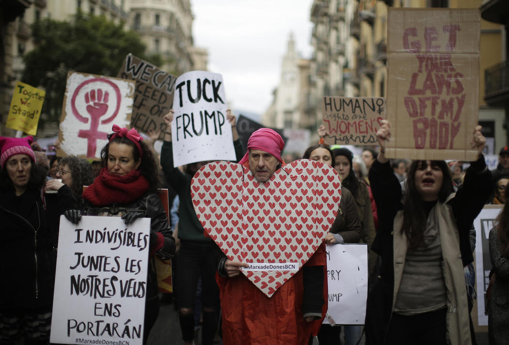Womne's March en Barcelona