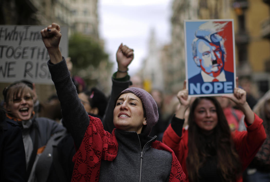 Mujeres en la Women's March de Barcelona