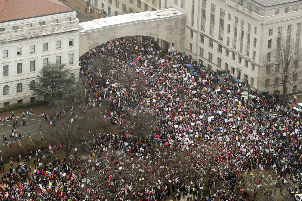 Medio millón de personas se concentraron en la Women's March de Washington