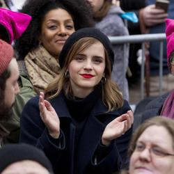 Emma Watson acude a la Women's March de Washington