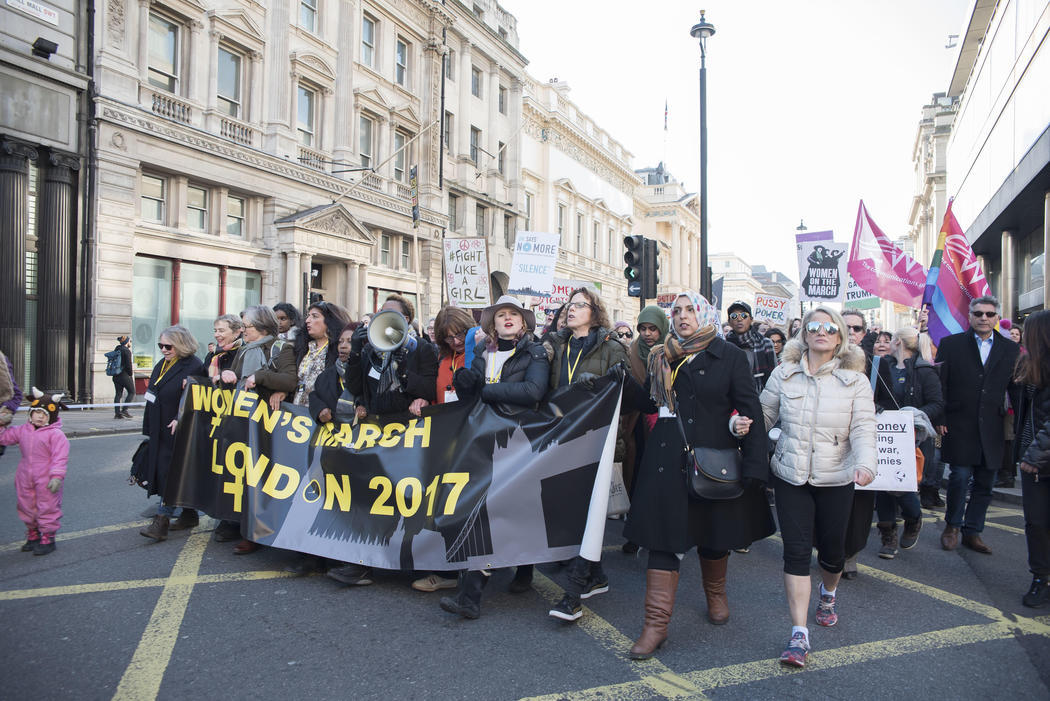Londres durante la Women's March