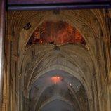 Daños del incendio en el interior de Notre Dame