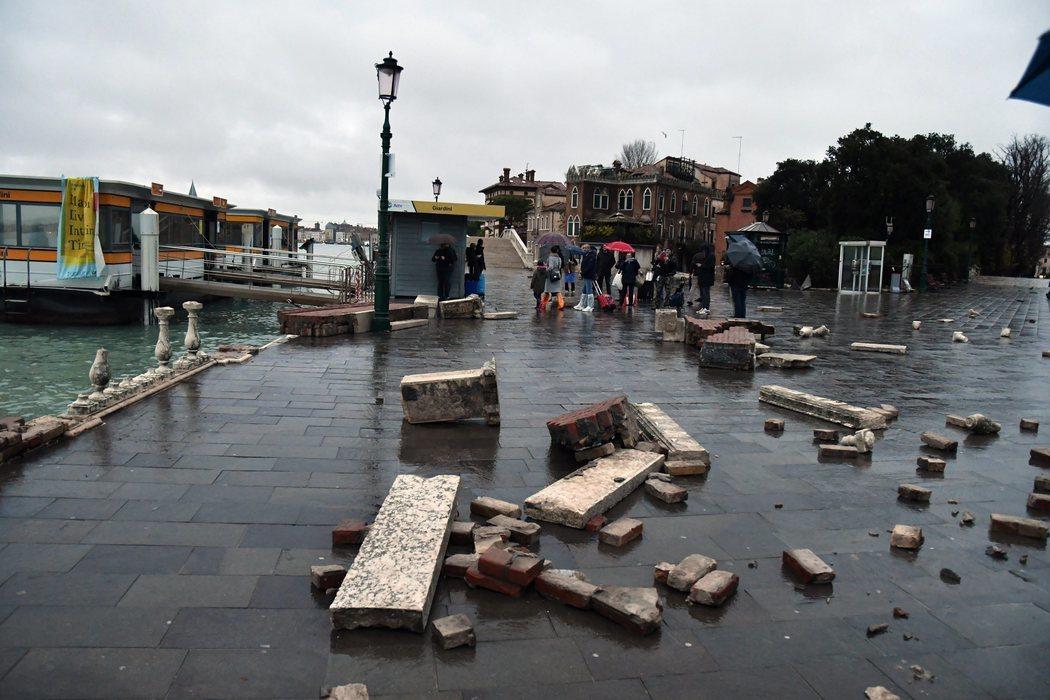 Las inundaciones en Venecia han provocado destrozos en la ciudad