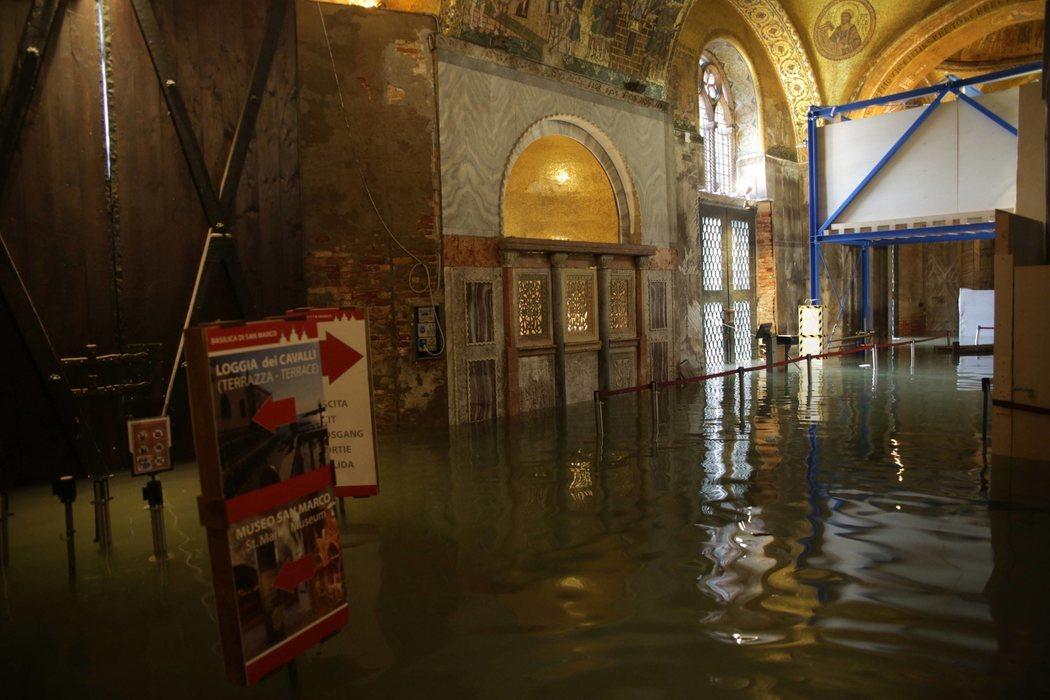 La Basílica de San Marcos, en Venecia, ha sufrido daños irreparables