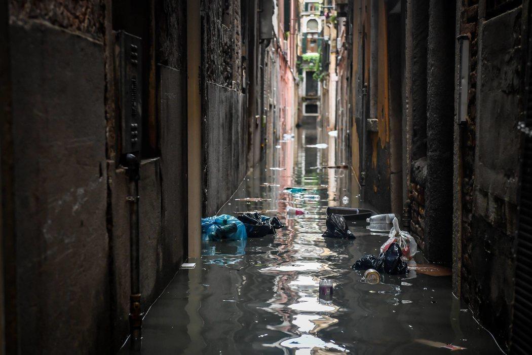 Las calles de Venecia, completamente inundadas