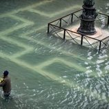 La plaza de San Marcos, en Venecia, anegada e irreconocible