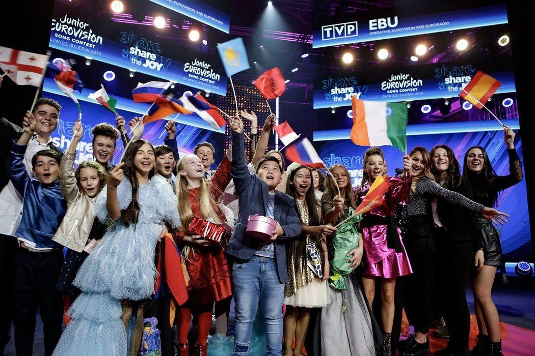 Melani, junto al resto de representantes de Eurovisión Junior 2019