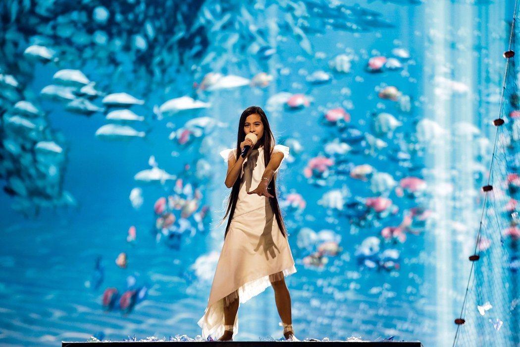 Melani, la diosa del mar del primer ensayo de Eurovisión Junior 2019