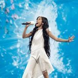 Melani aparece con un vestido reciclado en el segundo ensayo de Eurovisión Junior 2019