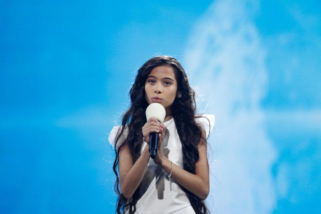Melani en el segundo ensayo de Eurovisión Junior 2019