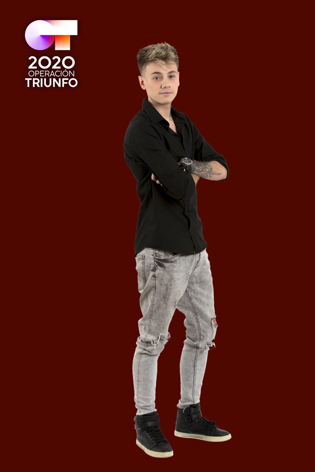 Posado de Hugo Cobo, concursante de 'OT 2020'