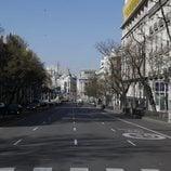 El tráfico en Madrid, inexistente por el brote de coronavirus