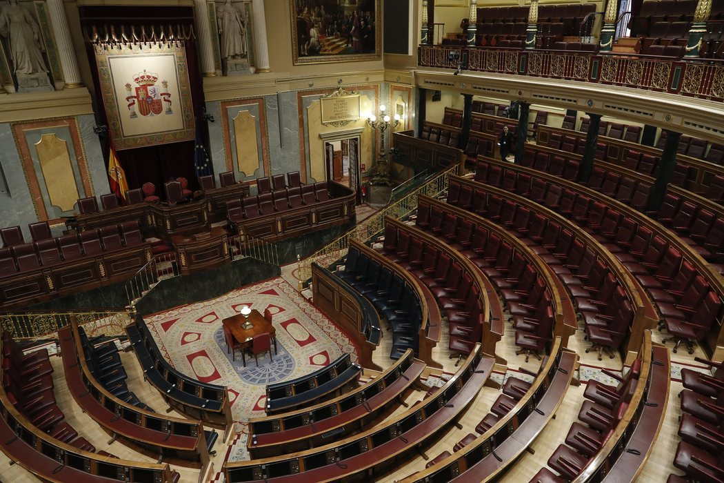 El Congreso de los Diputados, sin actividad por el coronavirus