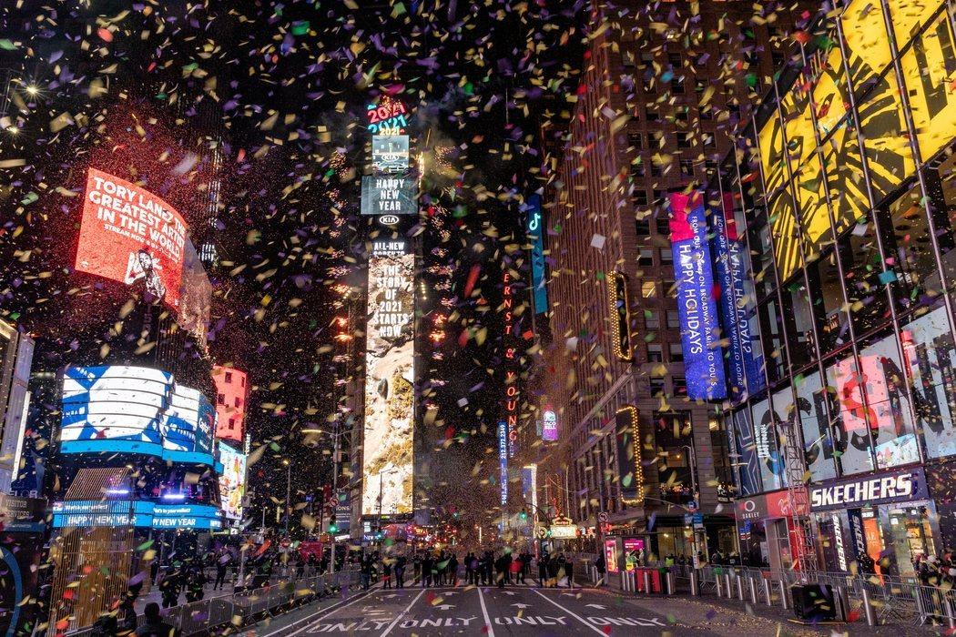 Policía y artistas para ver la bola caer en Times Square