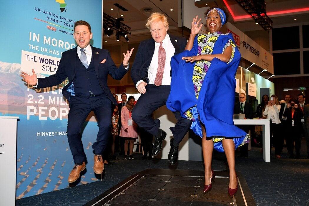 Johnson salta en una cumbre británico-africana