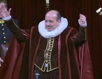 Cervantes da un discurso en el Congreso de los Diputados