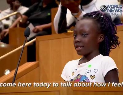 El emotivo discurso de una niña negra sobre cómo sufre el racismo en EEUU