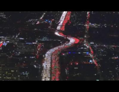 Las autopistas de Los Ángeles, colapsadas por los desplazamientos de Acción de Gracias