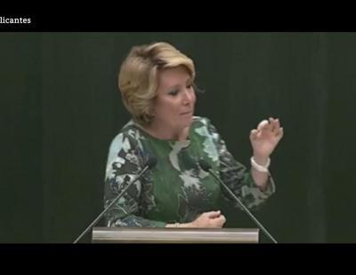 Las mentiras de Esperanza Aguirre