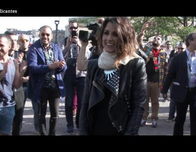 Así fue la quedada de Barei con sus fans en el Eurovillage