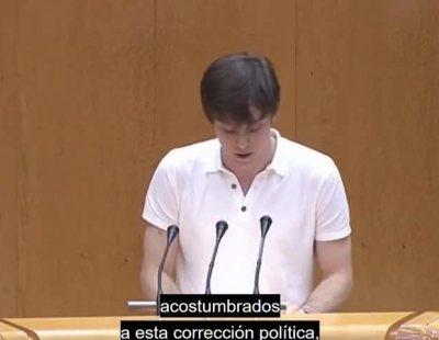 El PP abandona el Senado después de que Eduardo Rubiño cite el historial de VOX
