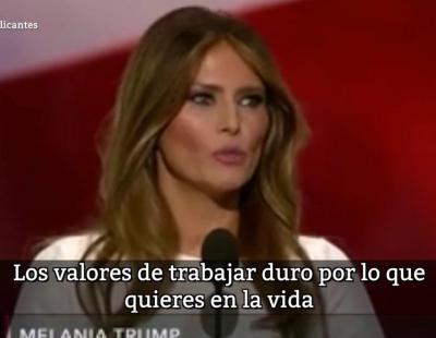 ¿Ha plagiado Melania Trump un discurso de Michelle Obama?