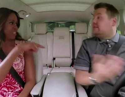 Michelle Obama canta 'Single Ladies' de Beyoncé en el Carpool Karaoke de James Corden