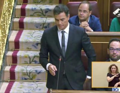 El rifirrafe de Pedro Sánchez y Ana Pastor en la investidura de Rajoy