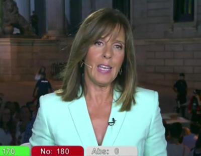 Ana Blanco se equivoca: 'Terceras elecciones en el plazo de un ano'